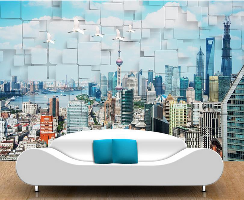 3d Wall Murals Photo Beautiful Cityscape Wallpaper High End Mural