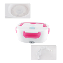 Color Pink Electric Heating Lunch Box thermos for kids Portable Bento Meal Heater Food