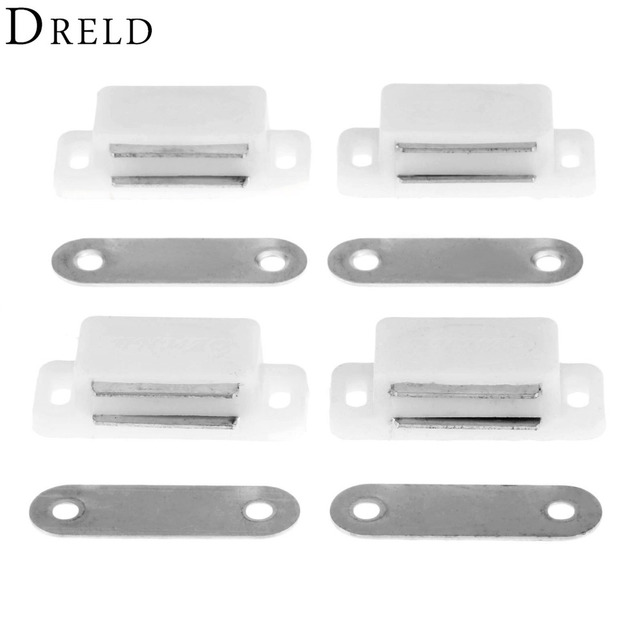 DRELD 4Pcs 41*17MM Door Cupboard Drawer Magnetic Catch Stop Stoppers  Magnetic Cabinet Catches Furniture