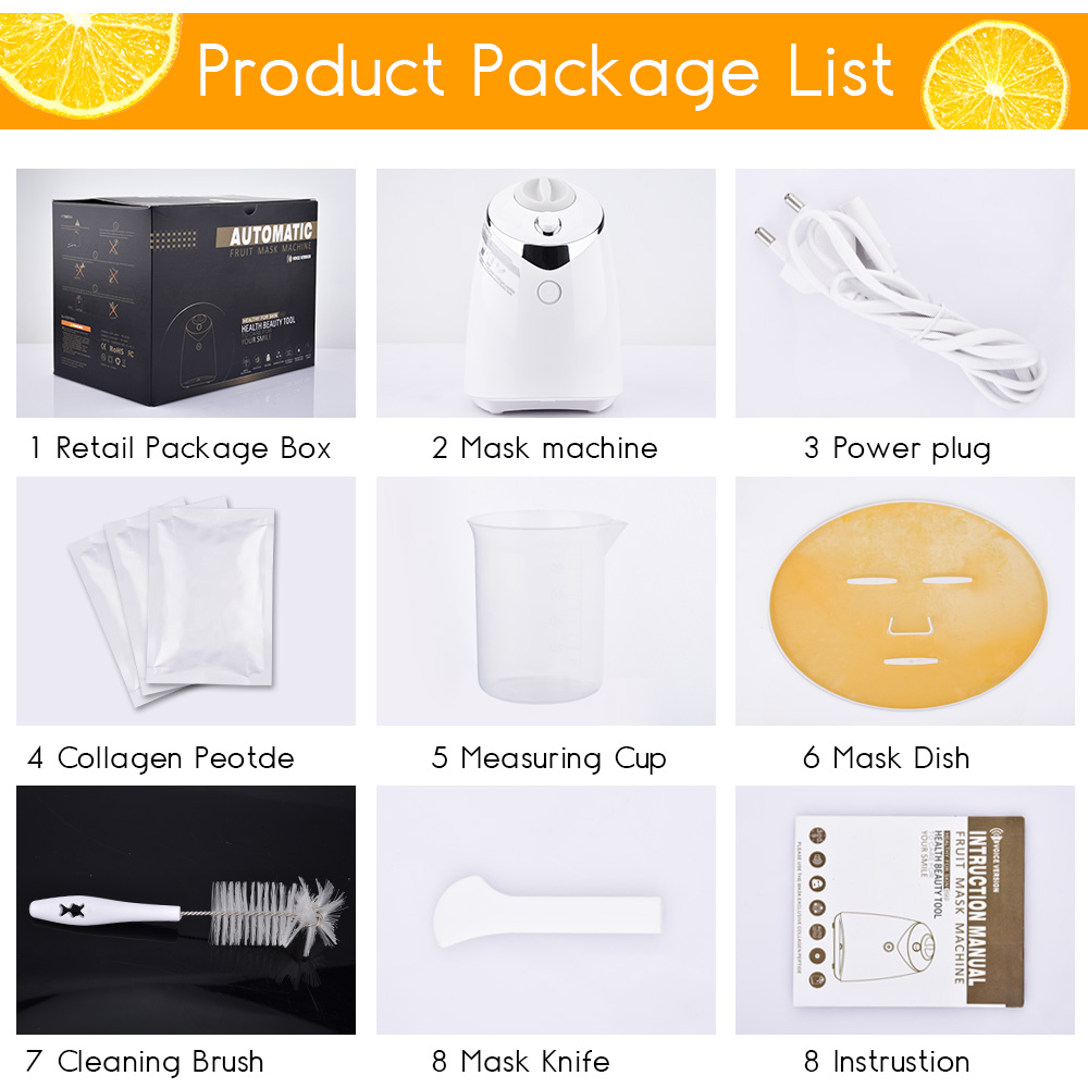 Face Mask Machine DIY Fruit Collagen Facial Masks Maker Anti Wrinkles Organic Therapy Face Mask Machine Beauty Facial SPA Skin Care Instrument (4)