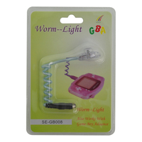 50pcs a lot Worm Light LED Lamps for GBA /GBP /GBC Game Console with packe