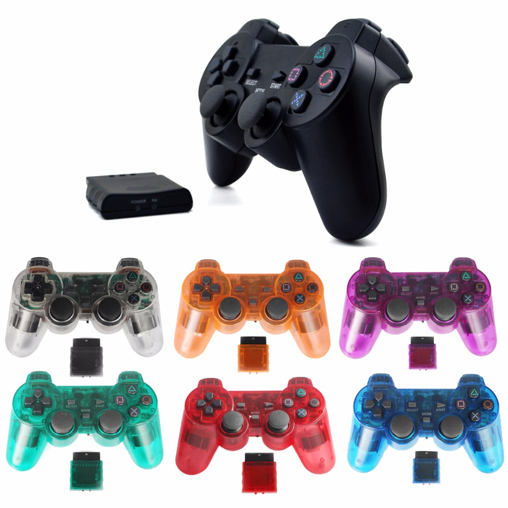 wireless game gamepad joystick for PS2 controller playstation 2 Vibration video gaming p ...