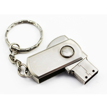 New Rotatable Metal 2.0 USB Flash Drives U Disk 2G/4G/8G/16G/32G/64G For Computer & Office External Storage