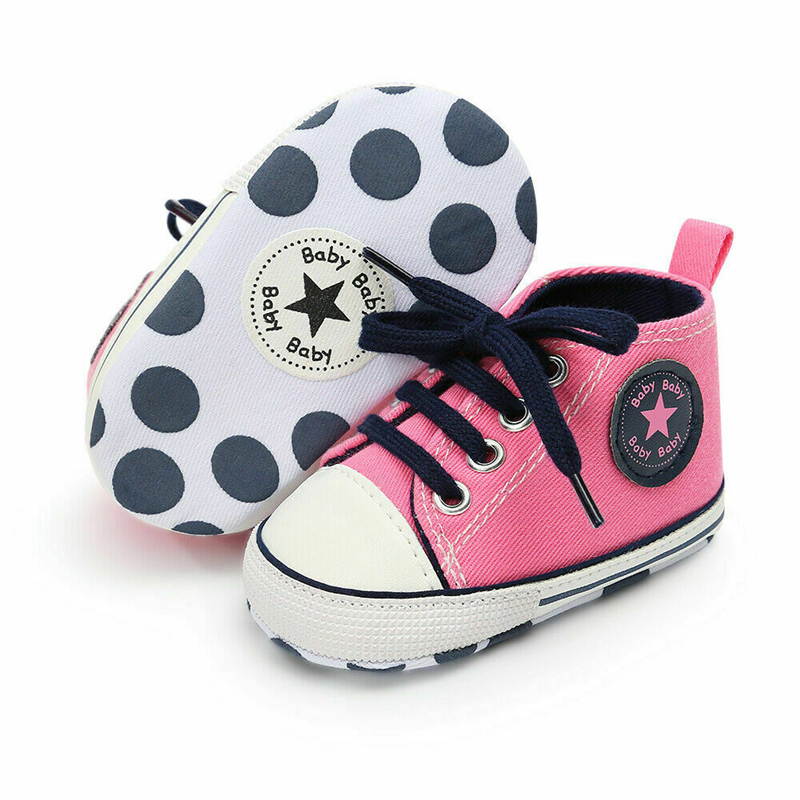 Newborn Baby Boys Girl Fashion Summer Soft Crib Shoes Children Bebe Casual First Walker Anti Slip Shoes Soft Sole Sneaker Shoe