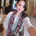 """Mulheres Marca Lenço De Seda Comprimento 71 """"180 cm Stripe Vestuário & Acessórios Flor Teste Padrão da Cópia das Mulheres Venda Quente SBY16817"""