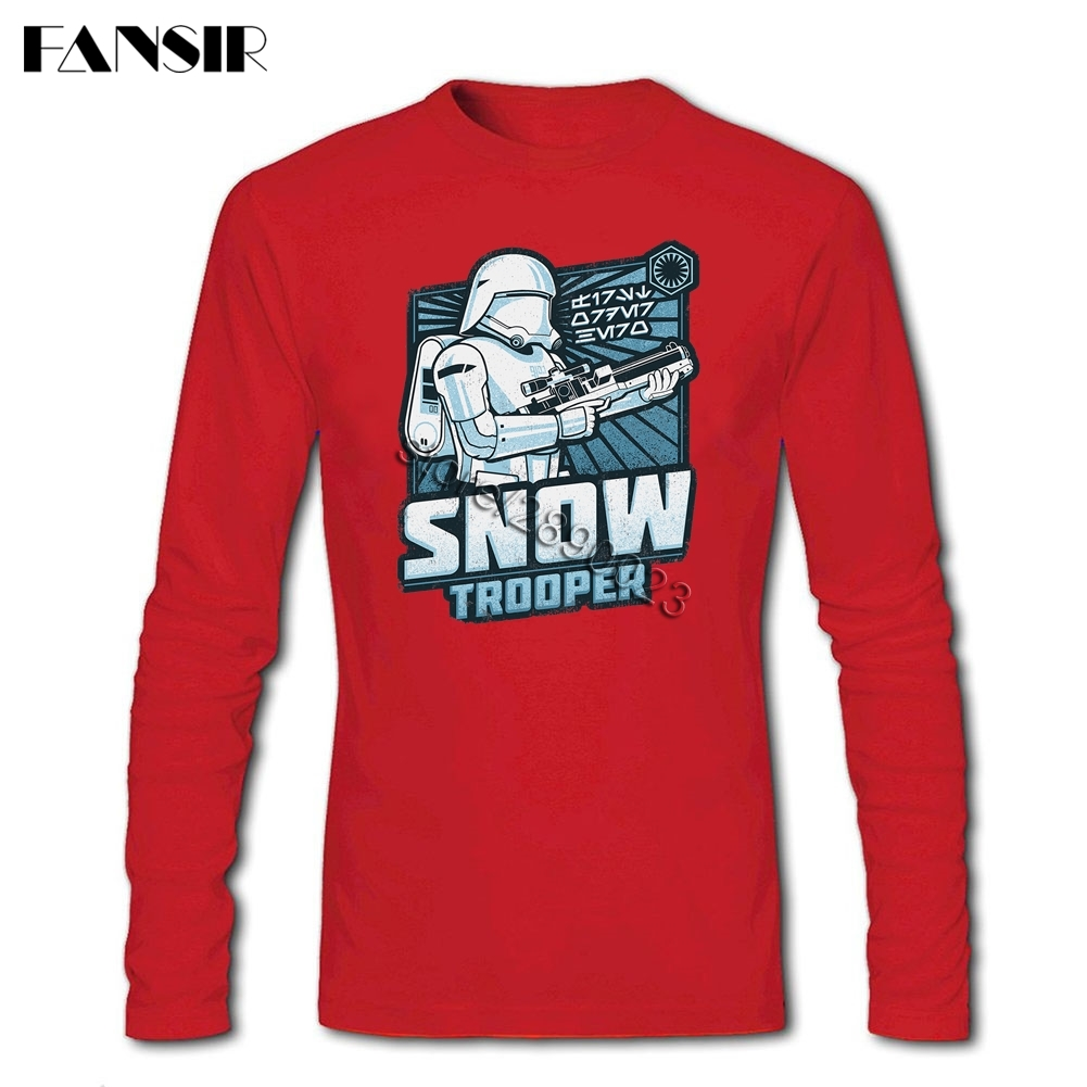 Star Wars Snowtrooper 2017 New Trendy T Shirts Men Crewneck Long Kaos Snow Tee Sleeve Cotton Clothing 3xl In From Mens Accessories On