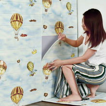 Nordic cartoon INS Living room retro 3D wall sticker Waterproof bedroom TV background wallpaper Foam self-adhesive