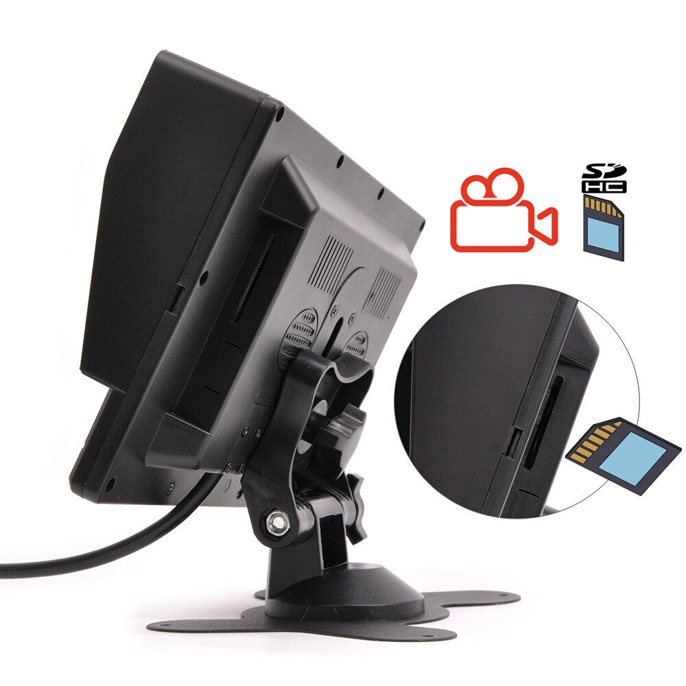 Горячие Новые 7 дюймов ips 2 с разделенным экраном 1024*600 AHD автомобильный монитор Автомобильный видеорегистратор DVR или AHD фронтальная камера/камеры заднего вида по желанию - Цвет: Monitor with 32Gcard