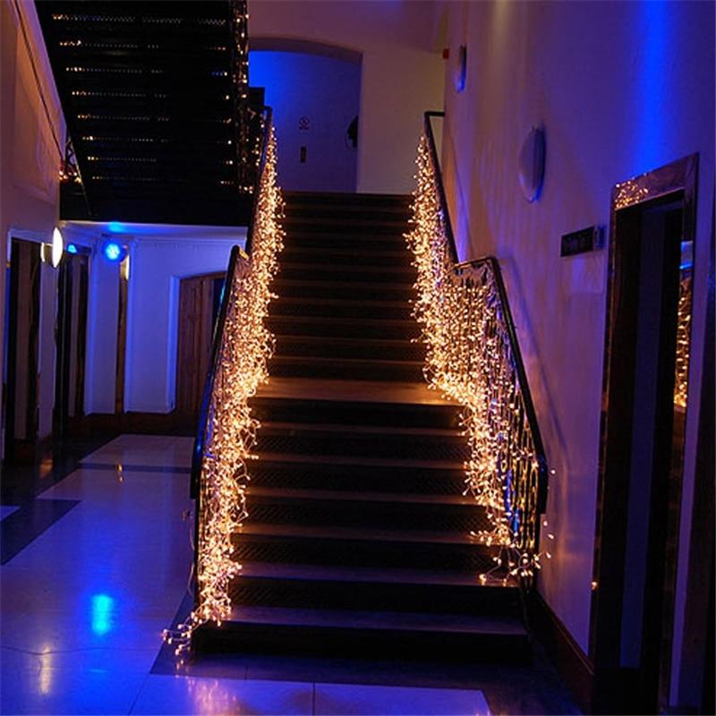 Led Waterfall Light Icicle Stripe Window Curtain Fairy Lights - large christmas decorations