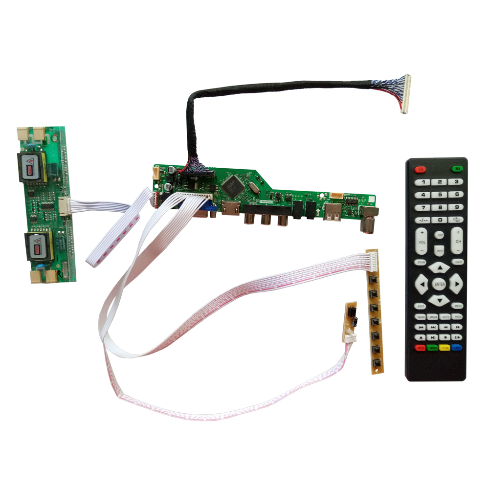 HDMI USB AV VGA ATV PC T. V56.031 kit de carte contrôleur LCD Plus 15.6 pouces 1366x768 LP156WH4 TLA1 Kit de moniteur LVDS
