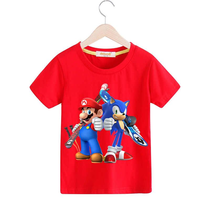 99d98ff16 ... 1-13Y niños camisetas de verano traje de Niños de dibujos animados  Mario manga corta ...