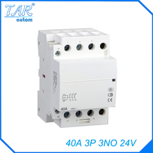 Modular three pole household small AC contactor Household Power Contactor 40A 3P 3NO 24V