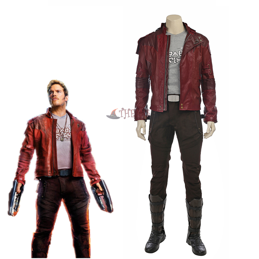 Guardians of The Galaxy 2 Cosplay Costume Star Lord leather coat Full Suit Peter Quill Cosplay Custom Made