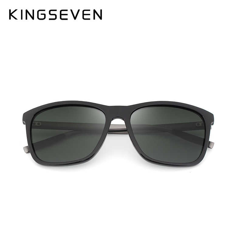Kingseven 2017ファッションアルミtr90偏光サングラス女性ユニセックススクエア男性デザイナーuv400ドライビングサングラス眼鏡