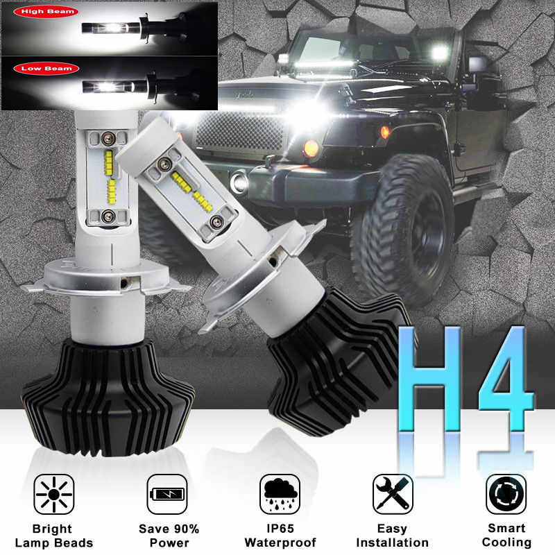 G7 55W Car Auto H1 H3 H4 H7 H11 9005 HB3 9012 9006 H10 LED Headlight Auto Kit LUXEON ZES LUMILED Chips 7th Fanless 6500K 16000LM
