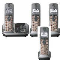 4 Yakışıklı KX-TG7731S 1.9 GHz Dijital kablosuz telefon DECT 6.0 Bağlantı için Bluetooth üzerinden Cep Telsiz Telefon Yanıtlama sistemi