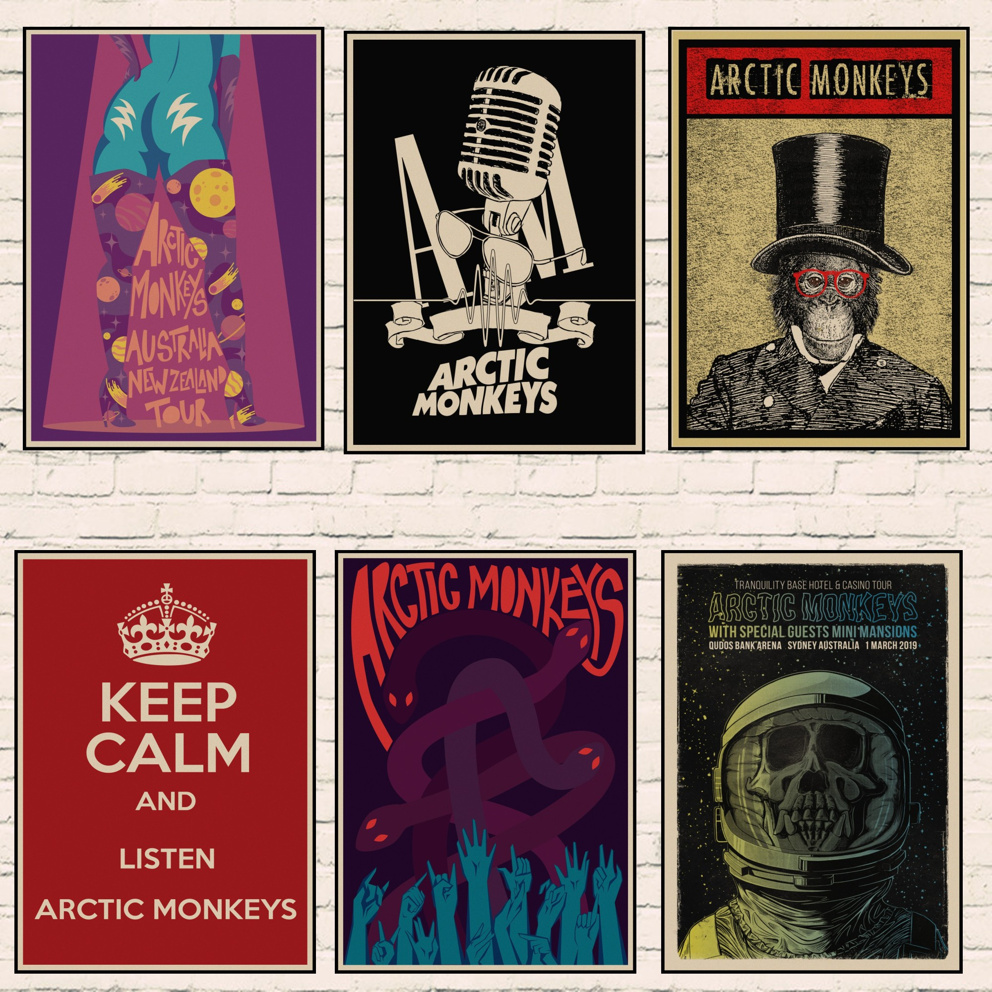 the arctic monkeys band music class arctic monkeys rockers retro kraft paper poster wall home bar posters home decor gift 01