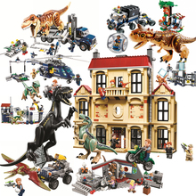 Jurassic World Brutal Raptor Building Blocks Jurrassic 2 Dinosaur Figures Bricks Toys For Children Dino Sermoido Park