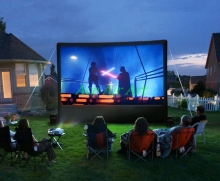 16:9 Outdoor Movie inflatable mobile screen, Inflatable Air Screen, inflatable television screen