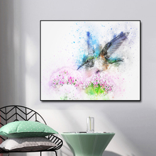 Watercolor kingfisher Abstract Canvas Painting Calligraphy Prints Home Decoration Wall Art Picture For Living Room Bedroom