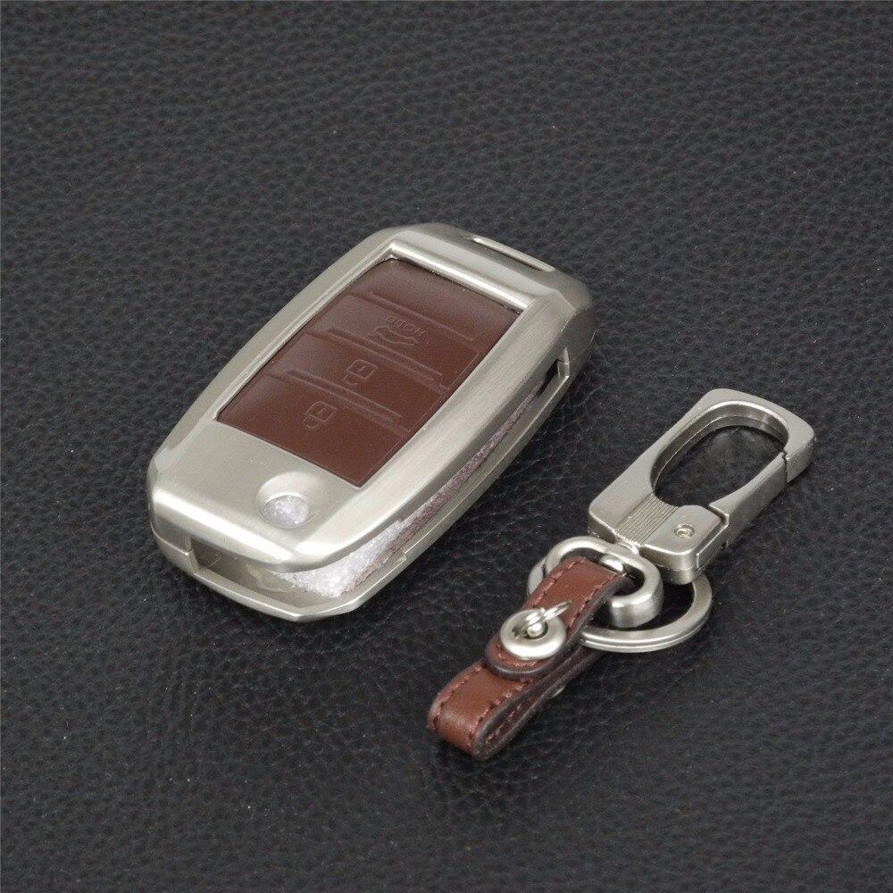 llavero Control remoto 3 botones Aleación de zinc + Cuero - Accesorios de interior de coche - foto 4
