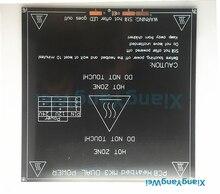 Черный последние Алюминия с подогревом dual power MK2B MK3 heatbed MK2A Обновленная 214*214 мм диаметром, как MK2B Поддержка 12 В 24 В