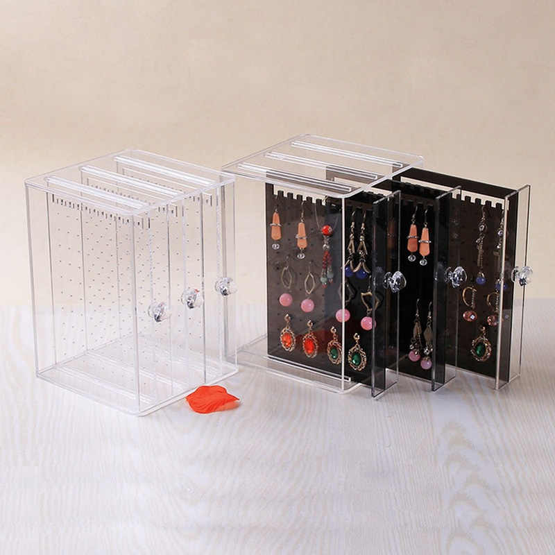 Mordoa New Acrylic Transparent Crystal Jewelry Plastic PS Showing Shelf Necklace Rack Box Earrings Hanger Nail Art Display Stand
