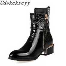 Женские ботинки зимние новые стильные модные блестящие с острым