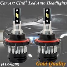 Car Art Club H13 9008 car light cree led Chips high power lamp H13 9008 Auto car led bulbs Car Light  6500K Head light kit