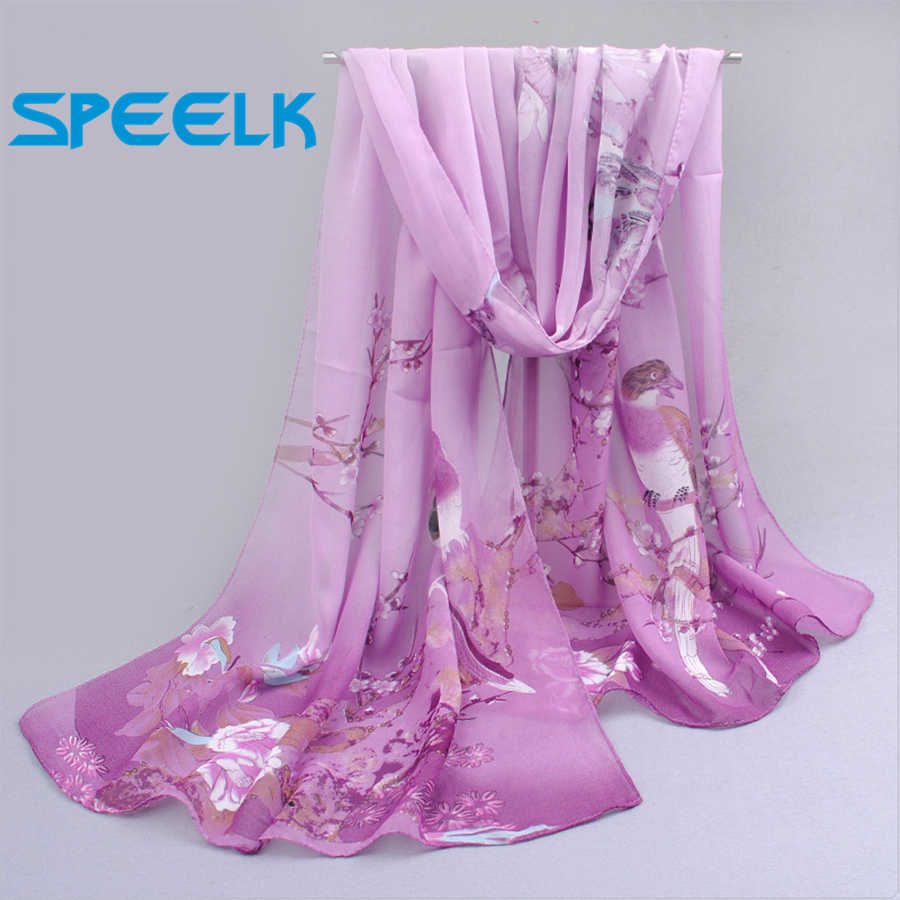6 colori Nuove Sciarpe di Chiffon Delle Donne di Estate Sciarpa di Seta Chiffon Sottile Scialli E Impacchi Foulard Fiore Hijab Stole Commercio All'ingrosso