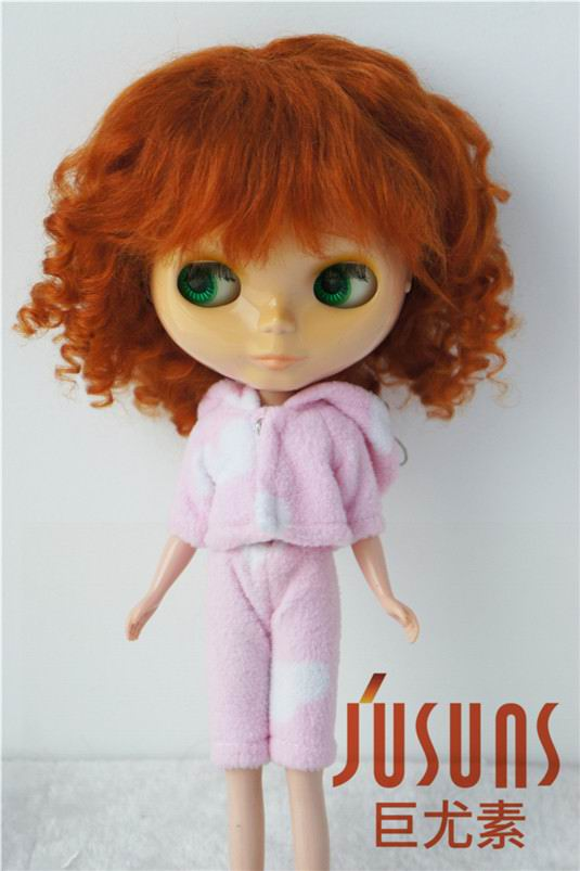 JD012 Pretty curly BJD Mohair doll wig in size 10-11 inch Blyth doll wigs doll accessories 8 9 bjd wig silver knights of england volume mohair wig spot