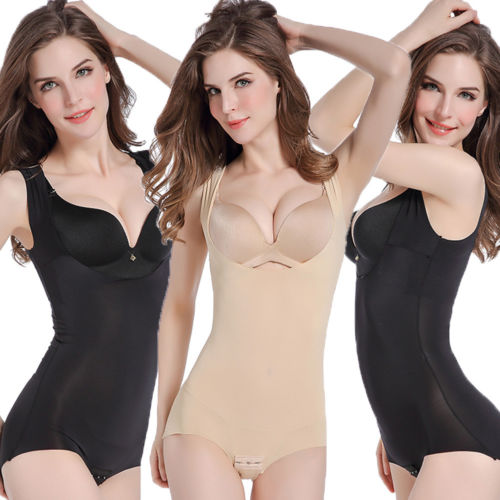 e8341435a1 Women Solid Bodysuit Shapewear Full Body Shaper 2018 New Weight Loss Sauna  Suit Slimming M-