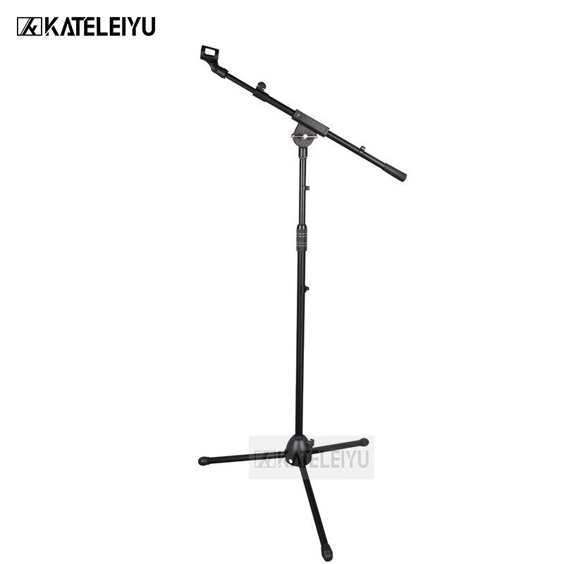 все цены на BY-750 Professional swing boom floor stand microphone holder Flexible Stage Microphone Stand Tripod онлайн