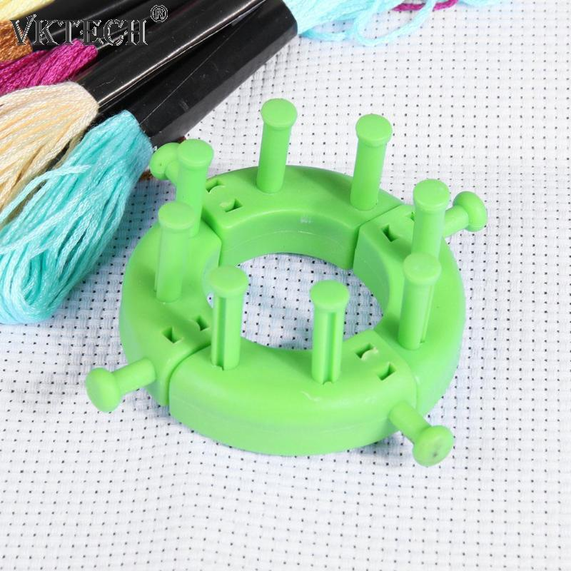 Spliced Loom Braided Frame Knitting Looms Long Ring Set with Crochet Needles for Making Scarves Quilts Socks Gloves