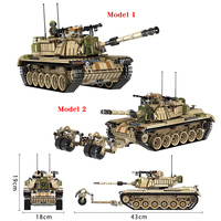 Panlos 1753PCS Army Tank Building Blocks Bricks Military Compatible Legoingly Weapons Brinquedo Menina Gift Toys For Children