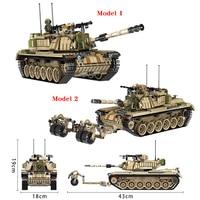 Panlos 1753PCS Army Tank Building Blocks Bricks Military Compatible Legoingly Weapons Brinquedo Menina Gift Toys For Children