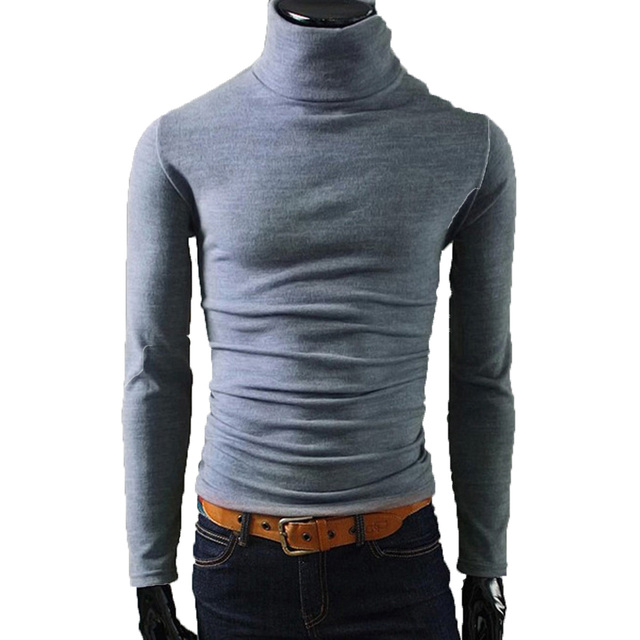 Winter Turtleneck Knitted Sweater for Men Black Autumn Knitwear Sweter Pull Pullover Sweaters Wholesale Warm Sweater