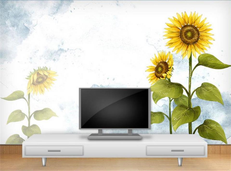 compare prices on sunflower wall murals online shopping