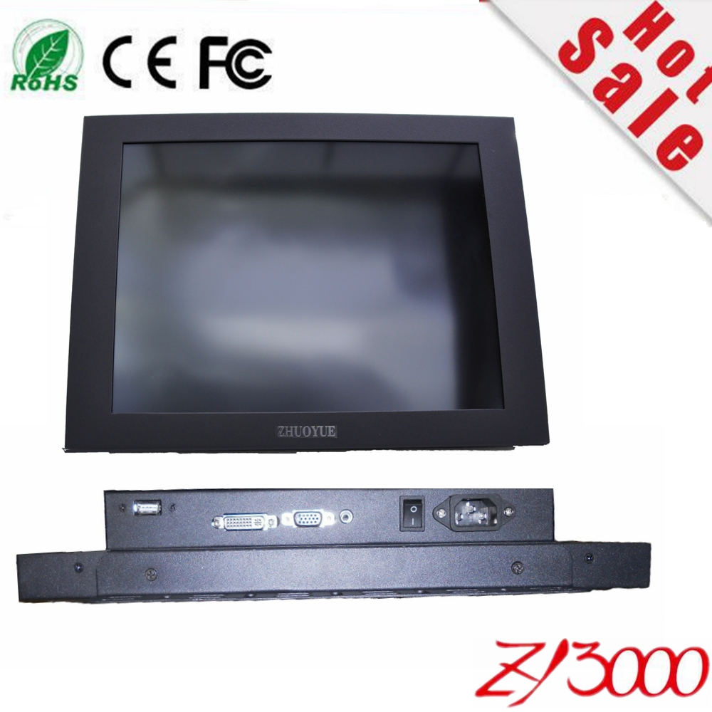 2017 Sale Car Detector Hmi Stock 15 Inch Led Display Panel Industrial Touch Monitor With Touchscreen Vga Input Accept To Kiosk