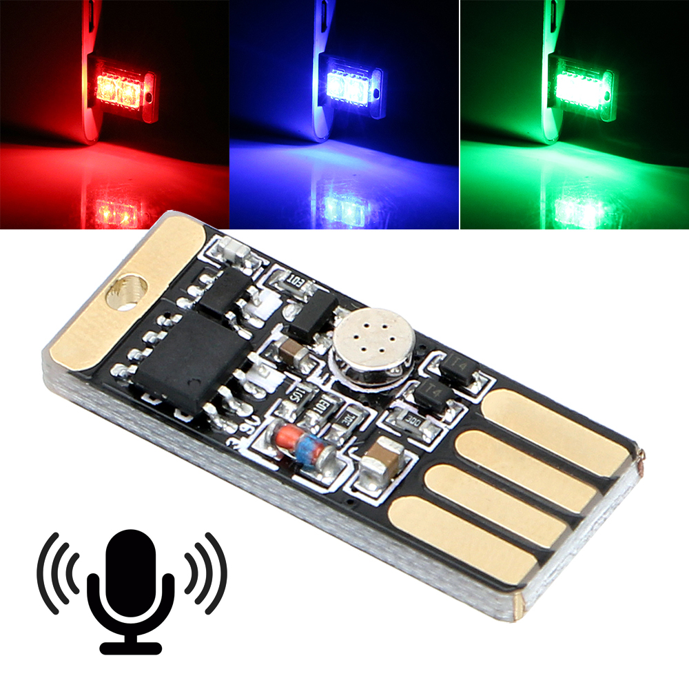 Car LED Atmosphere Light Touch and Sound Control RGB Music Rhythm Light With USB Socket Auto Decorative Lamp Car Styling