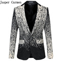 Free Shipping Plus Size M-6XL male master Sequins Prom Dresses Stage Costumes Men Suits top Host Clothing Singer Blazer coat