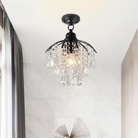 DX Modern Led Pendant Lights Crystal Lighting Fixture Living Room Lights Iron Lamp Luxury Luminaire White Warm Luster Black