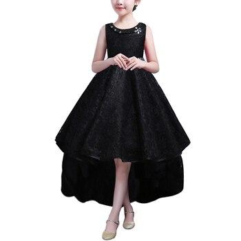 fd94f4f11 BAOHULU de niños de 3-14 años vestido para la boda de las niñas encaje  vestido de princesa elegante fiesta desfile vestido Formal para niño  adolescente