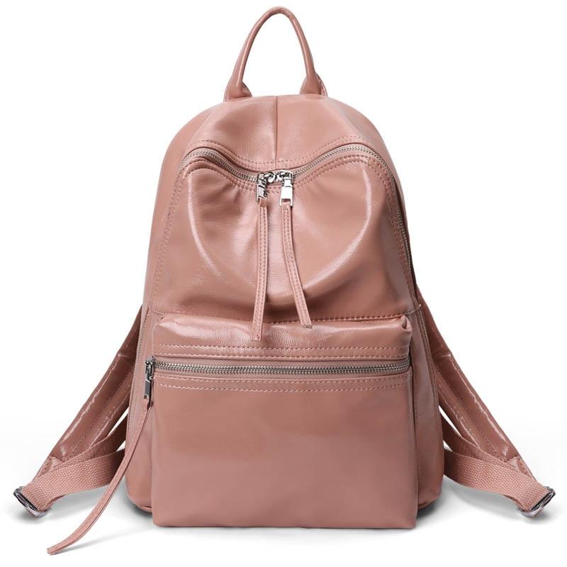 Nouveau grand sac à dos en cuir souple femmes sac à dos de créateur de mode blanc simple sac d'école voyage femme sac à dos à bandoulière