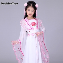 2019 new traditional ancient chinese folk dance costumes hanfu clothing dress girls children classical kids child tang dynasty 2018 spring chinese traditional dance costume children mesh lace kids folk dance costumes modern hanfu for girls national dress