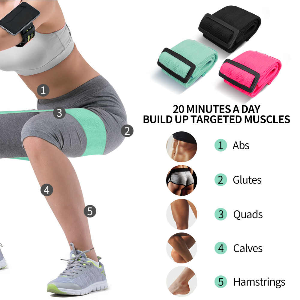 COPOZZ regulowane Hip opaska oporowa na nogi i Butt antypoślizgowe Roll Up treningu elastyczne Booty risng sportowe zespoły sprzęt Fitness