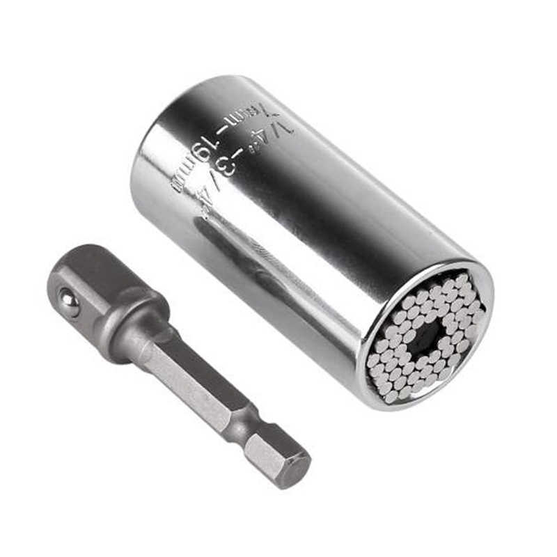 Универсальная головка гаечного ключа с крутящим моментом, набор гнезд 7-19 мм, сверло питания, храповая втулка, гаечный ключ, магические мультифунциональные ручные инструменты