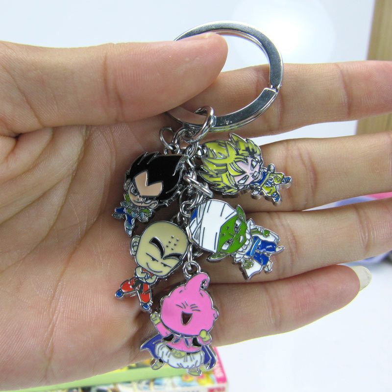 Dragon Ball Figure Keychain Metal Pendant Key Chain Anime DB Z Toy Keyring Jewelry Son Goku Gifts