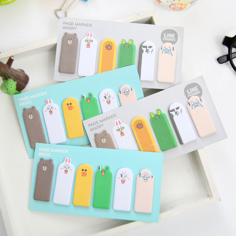 Cute Kawaii Korean Jananese Page Marker Flag Sticky Notes Bookmark Post It Scrapbooking Stickers School Office Supplies full page bookmark magnifier