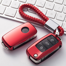 цена на TPU Auto Key Bag Cover Protector With Key Chain For Volkswagen VW Passat Golf Jetta Bora Polo Sagitar Tiguan Car Key Case Shell